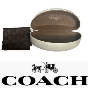 White Coach Sunglasses Case